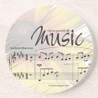 Express Yourself with Music Sandstone Coaster