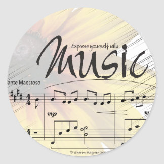Express Yourself with Music Sticker
