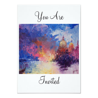 Expression of Venice You Are Invited Card