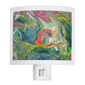 Expressionism Abstract Art Green Night Light
