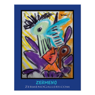 """Expressionist Girl"" by Zermeno Poster"