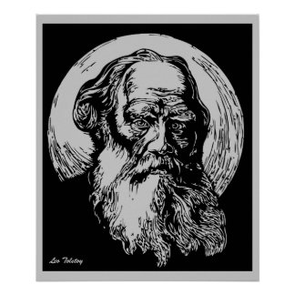 Expressionist Vector Art Leo Tolstoy Posters