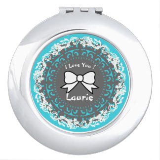 Expressions_Love-Gift--Bow_Name_Template Makeup Mirror