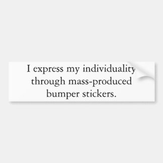 Expressions of Individuality Bumper Sticker