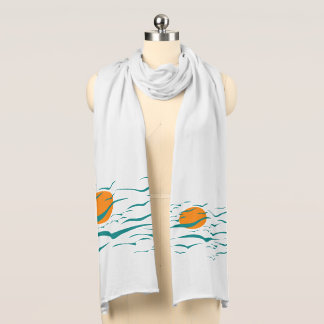 Expressive, Abstract Flock of Birds with Sunshine Scarf