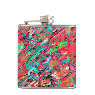 Expressive Abstract Grunge Hip Flask