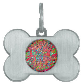 Expressive Abstract Grunge Pet ID Tags