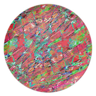 Expressive Abstract Grunge Plate