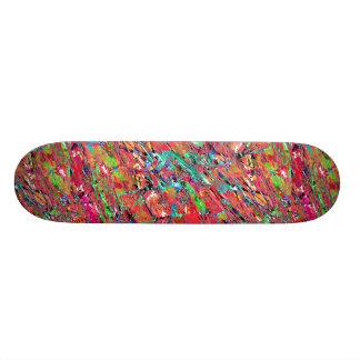Expressive Abstract Grunge Skateboard Deck