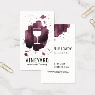 Expressive Brushed Texture / Wine Glass Business Card