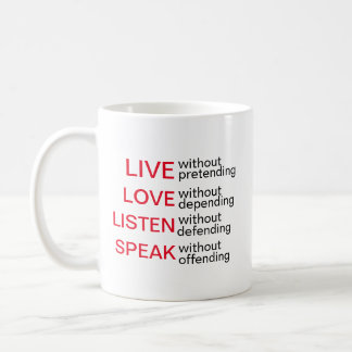 Expressive Mugs Live, Love, Listen, Speak