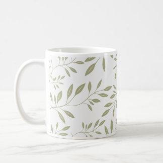 Expressive Olive green floral leaves wedding gift Mugs