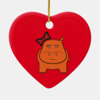 Expressively Playful Dianne Ceramic Heart Ornament