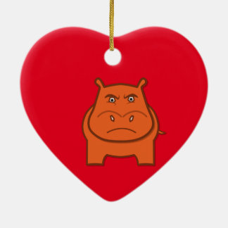 Expressively Playful Jack bondswell Mascot Ceramic Heart Ornament
