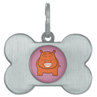 Expressively Playful Jack bondswell Mascot Pet Name Tag