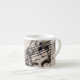 Expresso Mug with Beethoven and 9th symphony
