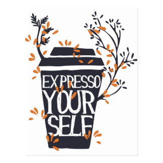 expresso your self postcard