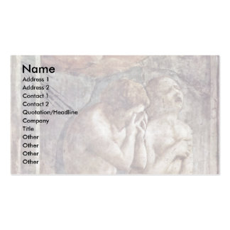 Expulsion From Paradise By Masaccio Best Quality Business Card Template