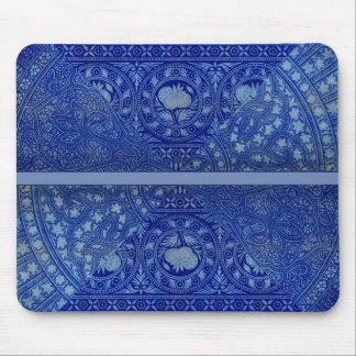 EXQUISITE blue Victorian decor print Mouse Pad