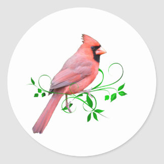 Exquisite Cardinal Classic Round Sticker