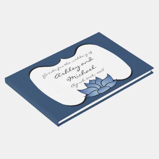 Exquisite Lotus in Blue Guest Book