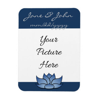 Exquisite Lotus in Blue Save-the-Date Magnet