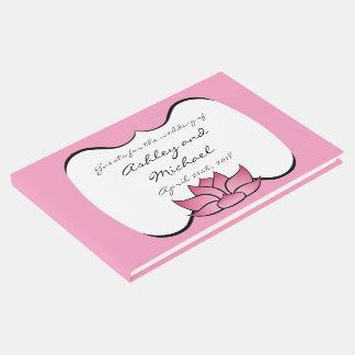Exquisite Lotus in Pink Guest Book