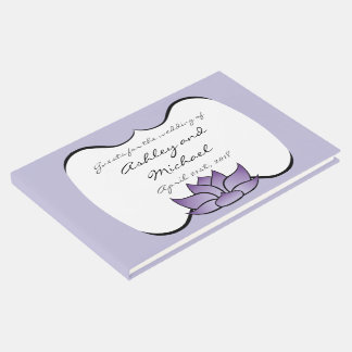 Exquisite Lotus in Purple Guest Book