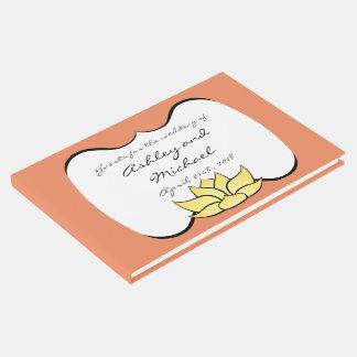 Exquisite Lotus in Sun Kissed Guest Book