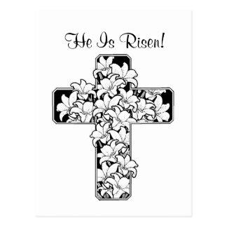 Exquisite! Rejoice - He is Risen Card Postcard