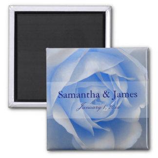 Exquisite Soft Blue Rose Magnet