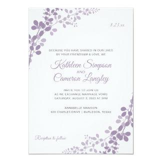 Exquisite Vines Wedding Invitation | Light Purple