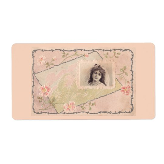 Exquisite vintage antique illustration Labels