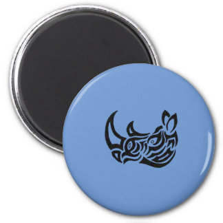 Exquisitely Playful Tribal Tattoos 2 Inch Round Magnet