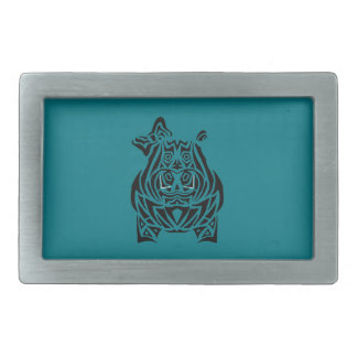 Exquisitely Playful Tribal Tattoos Belt Buckle