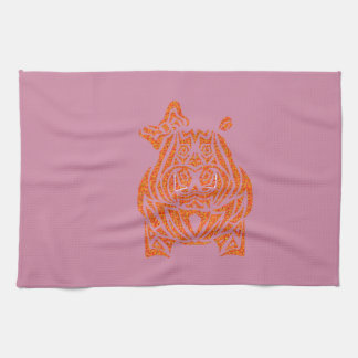 Exquisitely Playful Tribal Tattoos Kitchen Towel