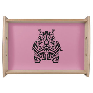 Exquisitely Playful Tribal Tattoos Serving Tray