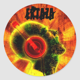 EXTAZA DJ Round Sticker
