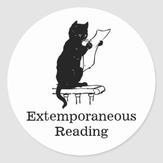 Extemporaneous Reading 20 ct sticker sheet