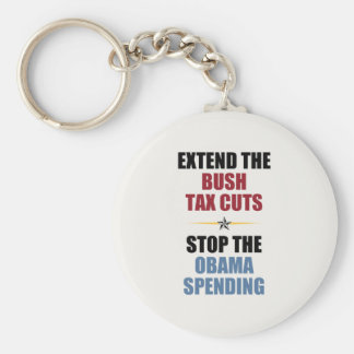 Extend The Bush Tax Cuts Basic Round Button Keychain