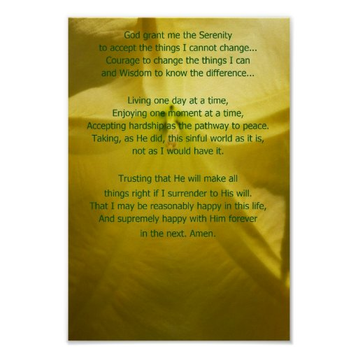 Extended Serenity Prayer Posters