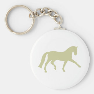 Extended Trot Dressage Horse (sage green) Keychain