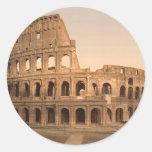 Extérieur du Colosseum, Rome, Italie Autocollant Rond