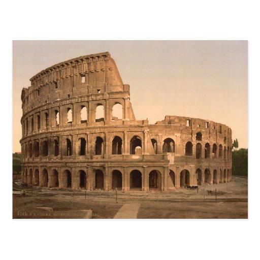 Extérieur du Colosseum, Rome, Italie Carte Postale