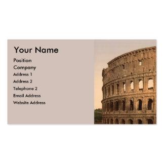 Extérieur du Colosseum, Rome, Italie Modèle De Carte De Visite