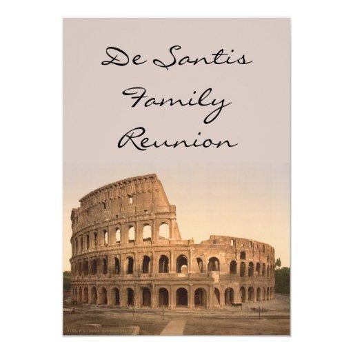 Extérieur du Colosseum, Rome, Italie Carton D'invitation 12,7 Cm X 17,78 Cm