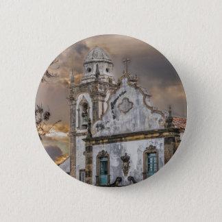 Exterior Facade Antique Colonial Church Olinda 2 Inch Round Button