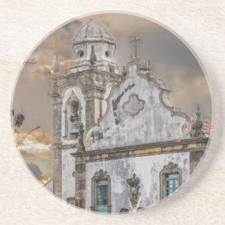 Exterior Facade Antique Colonial Church Olinda Coaster