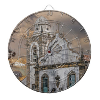 Exterior Facade Antique Colonial Church Olinda Dartboard