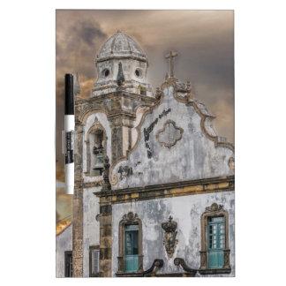 Exterior Facade Antique Colonial Church Olinda Dry Erase White Board